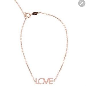 Jewelry - NEVER WORN Maya Brenner Rose Gold Love Bracelet